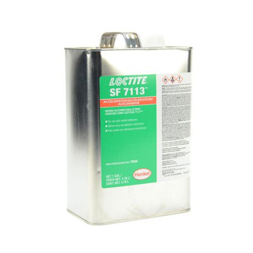 Henkel 19606 LOCTITE® SF 7113™ Transparent Adhesive Accelerator - 3.78 Liter (Gallon) Can