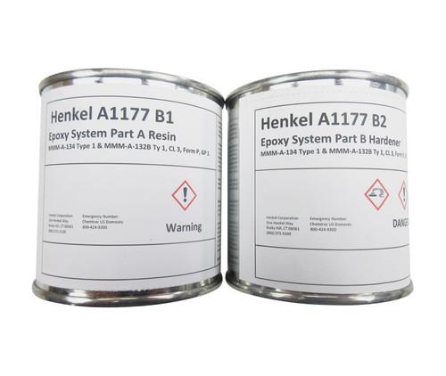Henkel 748491 LOCTITE® EA A1177B1/B2 HYSOL® Green/Blue MMM-A-132 Type 1, Class 3, Form P, Group 1 Spec Epoxy Adhesive Sealant - 3.78 Kg (2-Gallon) Kit