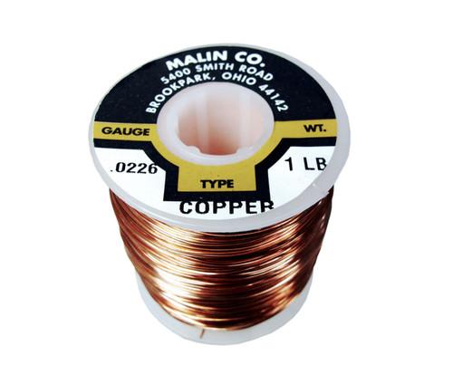 """Malin 11-0226-001S Copper 0.0226"""" #23 Breakaway Wire - 1 lb Spool"""
