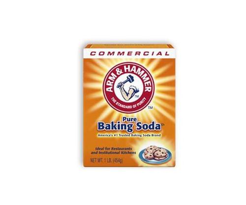 Arm & Hammer™ 84104 White (Sodium Bicarbonate) Baking Soda Powder - 454 Gram (1 lb) Box