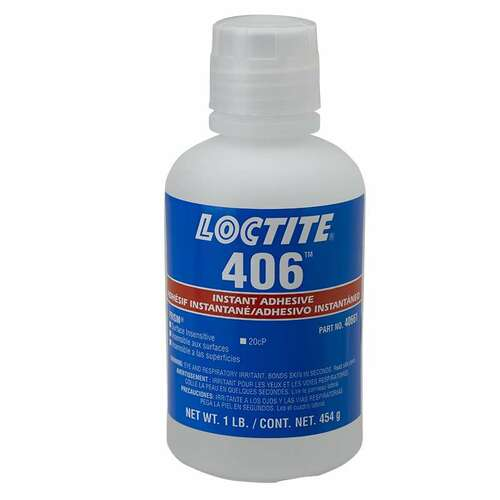 Henkel 40661 LOCTITE® 406™ PRISM® Clear Instant Adhesive - 454 Gram (1 lb) Bottle