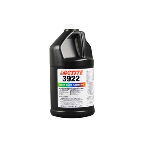 Henkel 32047 LOCTITE™ AA 3922™ Transparent Light-Cure Acrylic Adhesives - Liter (33.8 oz) Bottle