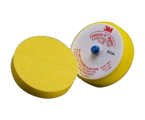 "3M™ 051144-14736 Finesse-it™ Roloc™ Yellow 3"" Firm Finishing Disc Pad"