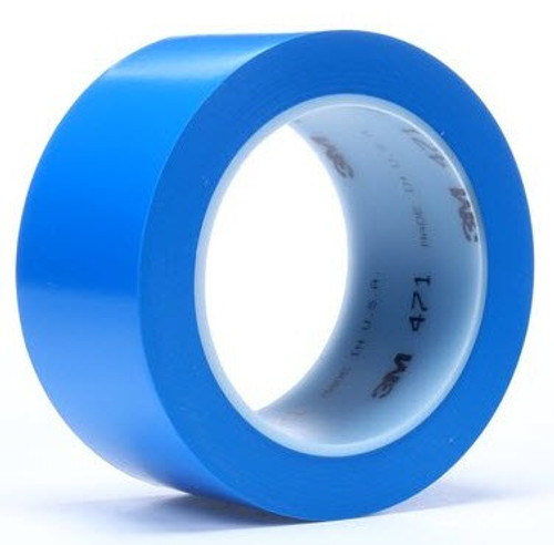 """3M™ 021200-03122 Blue 471 Vinyl 5.2 Mil Tape - 3"""" x 36 Yard Roll"""