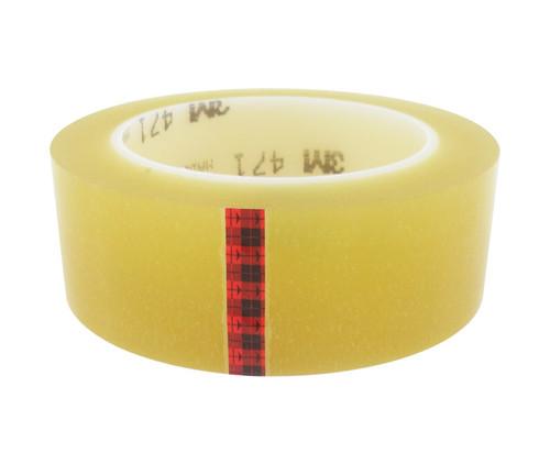 """3M™ 021200-07234 Transparent 471 Vinyl 5.2 Mil Tape - 1-1/2"""" x 36 Yard Roll"""