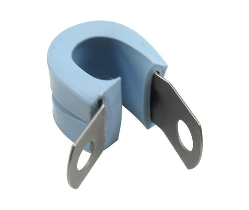 Military Specification M85052/3-6 Crescent Steel Blue Nitrile Rubber Clamp, Loop