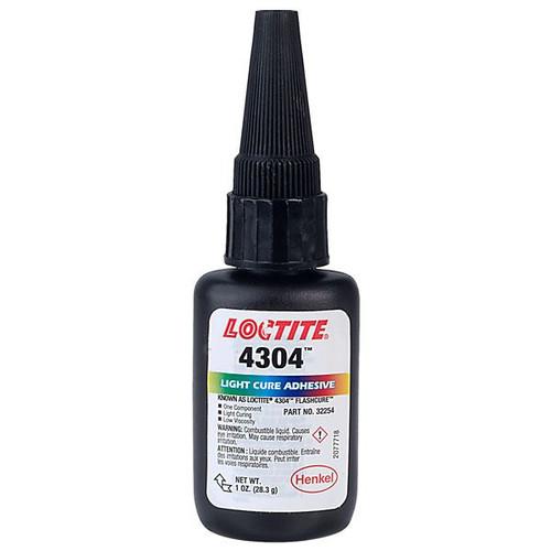Henkel 32254 LOCTITE® AA 4304™ Light Green Light-Cure Cyanoacrylate Adhesive - 28.3 Gram (1 oz) Bottle