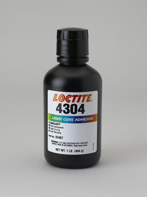 Henkel 32407 LOCTITE® AA 4304™ Light Green Light-Cure Cyanoacrylate Adhesive - 454 Gram (1 lb) Bottle