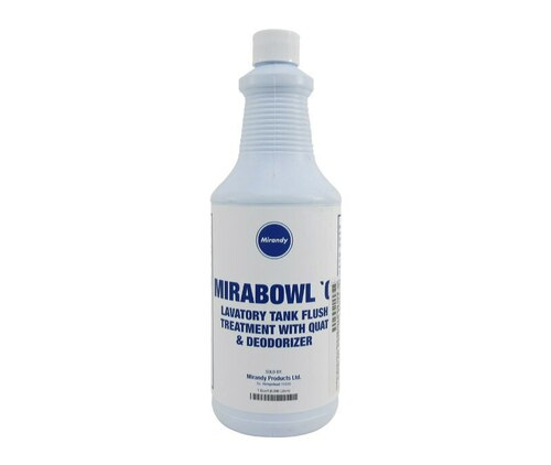 Mirabowl Q® 1485-341Q Ready to Use Dark Blue Aircraft Lavatory Tank Deodorant & Cleaner - Quart Bottle