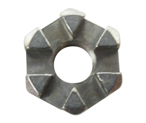 Aeronautical Standard AN320C3 Stainless Steel Nut, Plain, Slotted, Hexagon