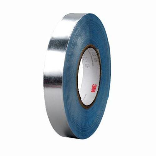 "3M™ 051138-95399 Silver 434 Vibration Damping 7.5 Mil Aluminum Foil Tape - 3"" x 60 Yard Roll"