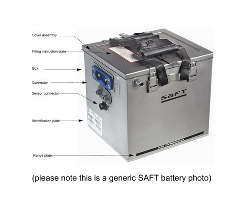 SAFT 410295 Model 40109-1 Nicad Battery Assembly