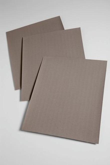 "3M™ 051144-02402 211K Black 9"" X 11"" 320 J-Weight Utility Cloth Sheet - Carton of 50 Sheets"