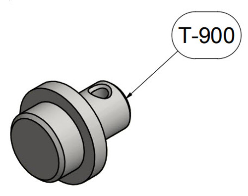 Brackett T-900 Gray Piper PA-28R & PA-32R (L Side only) Universal Towbar Adapter (1 Required)
