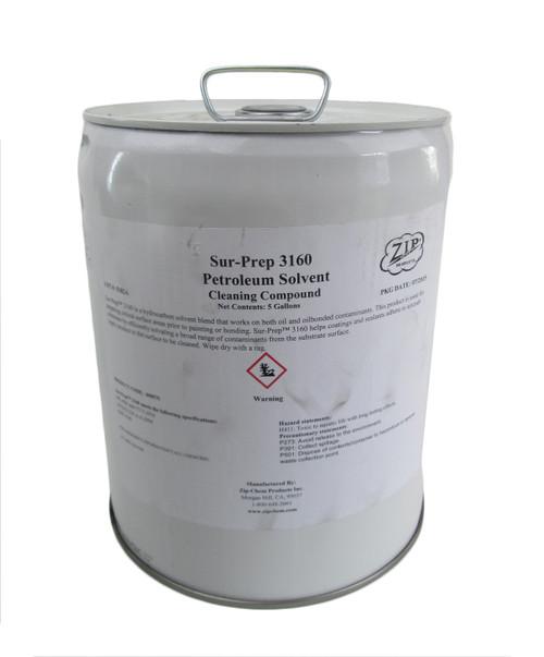 Zip Chem 008579 Sur-Prep 3160 Petroleum Solvent Cleaning Compound - 5 Gallon Pail