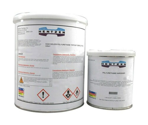Hentzen 08620WUA-ULVOC Zenthane® FS#37875 White MIL-DTL-53039E Type IV Spec (CARC) Single Component Aliphatic Polyurethane Coating - Gallon Can