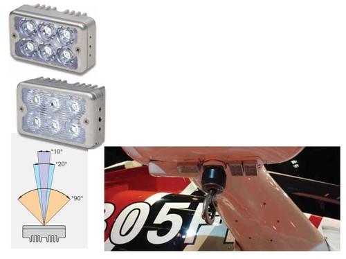 """WHELEN® 01-0771125-22 Model 7112522 28-Volt 90° 2"""" x 3"""" LED Recognition Light"""