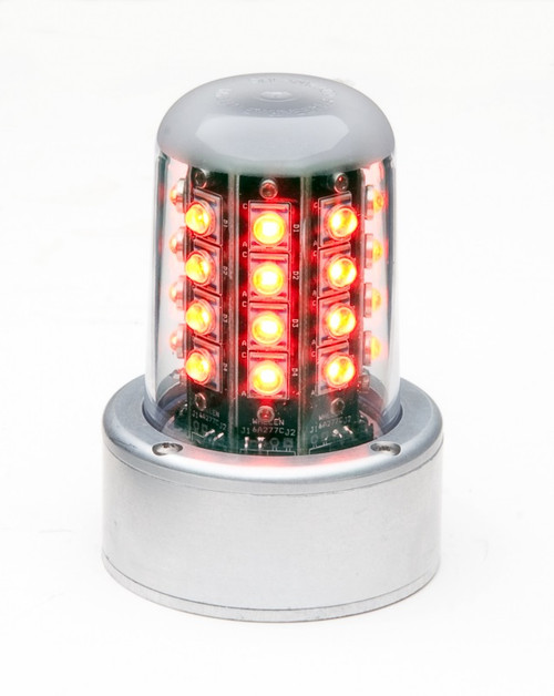 WHELEN® 01-0771080-14 Model 7108014 Red 28-Volt 5-Hole Lower Mount & Flying Leads LED Anti-Collision Beacon