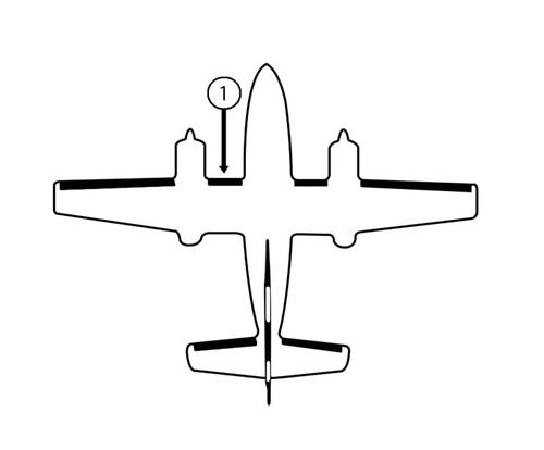 Goodrich 23S2074-4-1 Cessna 421B LH Fuselage - Nacelle De-Ice Boot