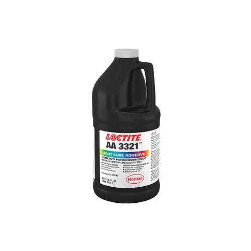 Henkel 19740 LOCTITE® AA 3321™ Yellow Light-Cure Acrylic Adhesive - Liter (33.8 oz) Bottle