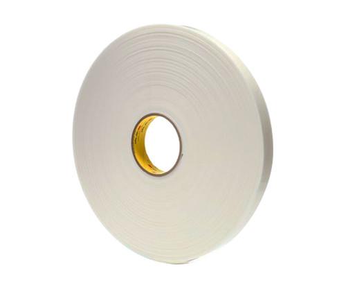 "3M™ 021200-67501 VHB™ 4955 White 80 Mil Acrylic Foam Tape - 1"" x 36 Yard Roll"
