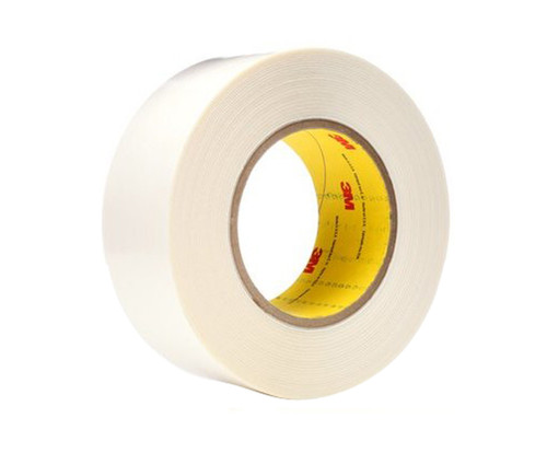"""3M™ 021200-65869 White 9579 Double 9 Mil Coated Tape - 2"""" x 36 Yard Roll"""