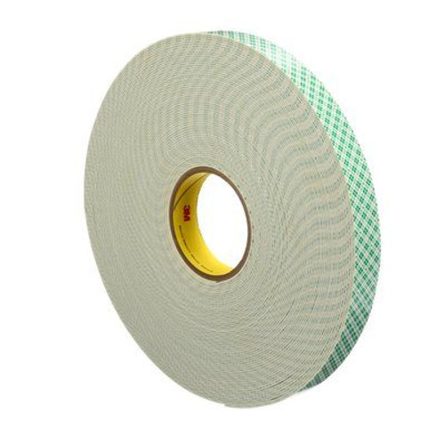 """3M™ 021200-17057 Natural 4026 Double 62.5 Mil Coated Urethane Foam Tape - 1"""" x 36 Yard Roll"""