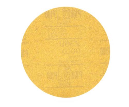 """3M™ 051131-00982 Hookit™ 236U Gold 6"""" P100 Grit Abrasive Disc - 4 Boxes/Case"""