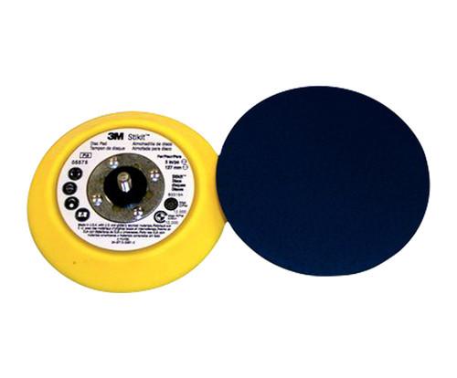 "3M™ 051144-05575 Stikit™ 05575 Yellow 5"" X 3/4"" Medium PSA Disc Pad -10 Pads/Pack"