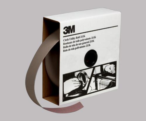 "3M™ 051144-05044 211K Gray 2"" X 50 Yd 240 Grit J-Weight Utility Cloth - 5 Rolls/Pack"