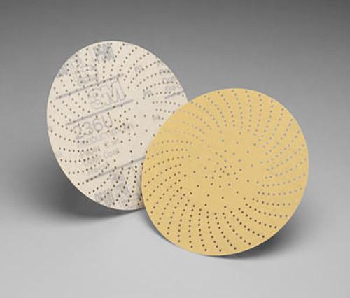 "3M™ 051141-55515 Hookit™ 236U Gold 6"" 500 Grit C Weight Clean Sanding Disc - 50 Discs/Pack"