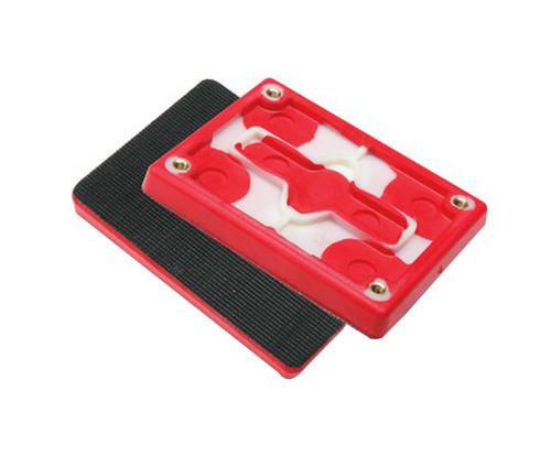 """3M™ 051141-20433 Hookit™ 20433 Red 3"""" X 4"""" X 1/2"""" Foam Pad - 10 Pads/Pack"""