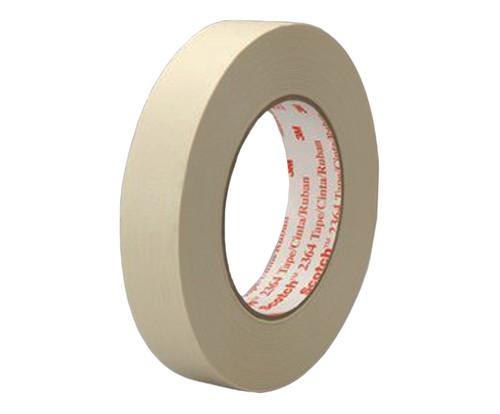 3M™ 021200-44542 Scotch® 2364 Tan 6.5 Mil Performance Masking Tape - 100 mm x 55 m Roll