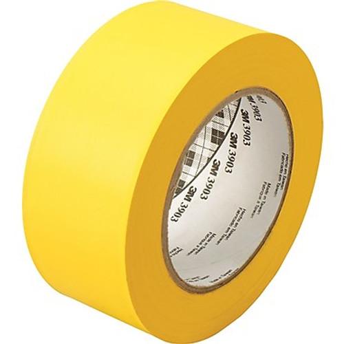 "3M™ 051131-06982 Yellow 3903 Vinyl 6.5 Mil Duct Tape - 2"" x 50 Yard Roll"