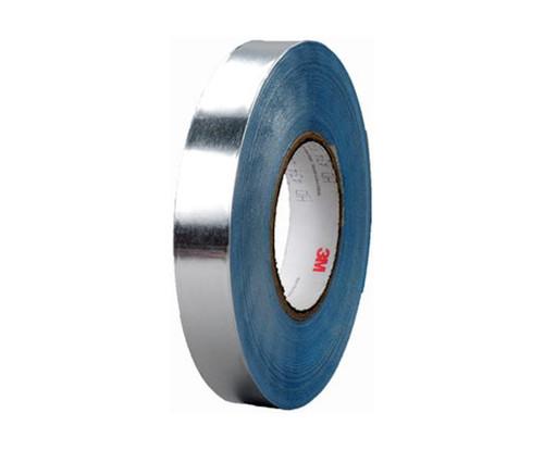 "3M™ 051138-95663 Silver 436 Vibration 17.5 Mil Damping Aluminum Foil Tape - 12"" x 36 Yard Roll"
