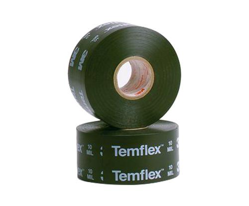 "3M™ 054007-09061 Temflex™ 1100 Black 20 Mil Surface Protective Tape - 2"" x 100' Roll"
