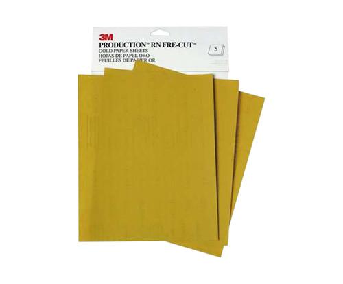 "3M™ 051131-02539 Production™ Resinite™ 216U Gold 9"" X 11"" P400 Grit Abrasive Sheet"