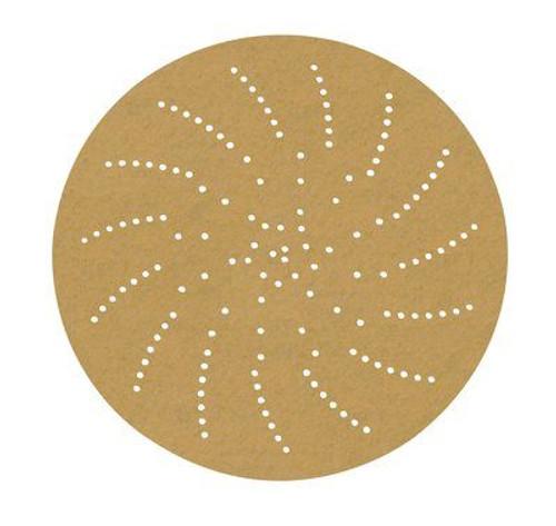 "3M™ 051141-55506 Hookit™ 236U Gold 6"" P80 Grit C Weight Clean Sanding Disc - 50 per Carton"