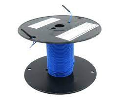 Military Specification M22759/11-26-6 Blue 26 AWG PTFE Tapes/Coated Fiberglass Braid Wire