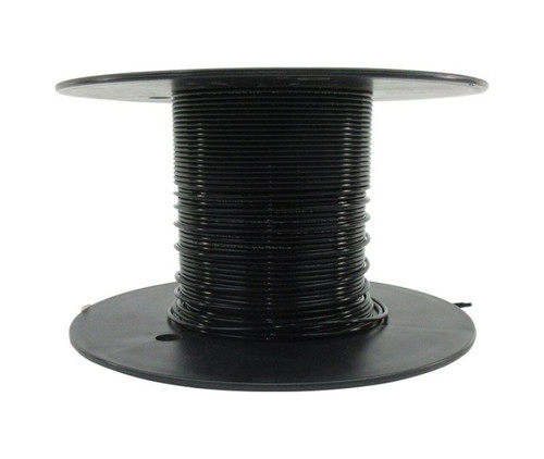 Military Specification M22759/11-26-0 Black 26 AWG PTFE Tapes/Coated Fiberglass Braid Wire