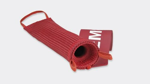 """Sesame Technologies KPC4-910-55 Red Kevlar® Triple Layer Flame-Retardant Boeing 737 Tail Probe Cover with 2"""" x 12"""" Streamer Flag"""