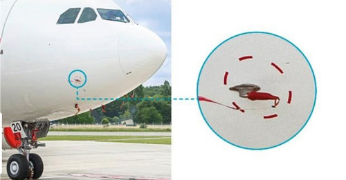 Sesame Technologies NMPC-640-2 Red Nomex Airbus A350/A380 Multifunction Probe Cover