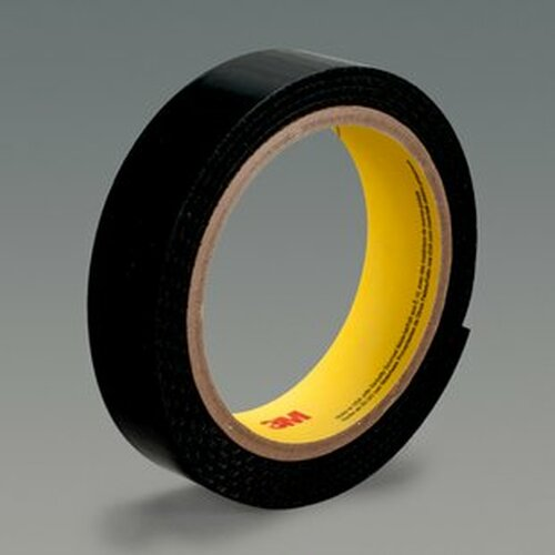 "3M™ 021200-86240 Scotchmate™ SJ3523N Black Hook Fastener - 5/8"" x 0.14"" x 50 Yard Roll"
