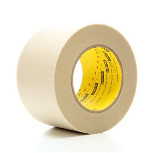 "3M™ 021200-30184 Scotch® 361 White 7.5 Mil Glass Cloth Tape - 4"" x 60 Yard Roll"