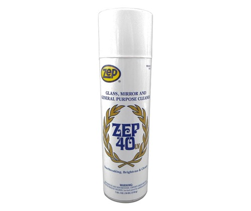 ZEP® 322901 40™ LV 4 White Mint Scent Non-Streaking Multi-Surface Cleaner - 18 oz Aerosol Can