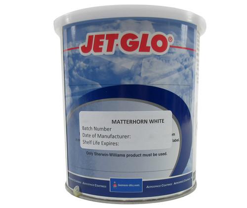 Sherwin-Williams U00150 JET GLO Matterhorn White Polyester Urethane Topcoat Paint - Quart