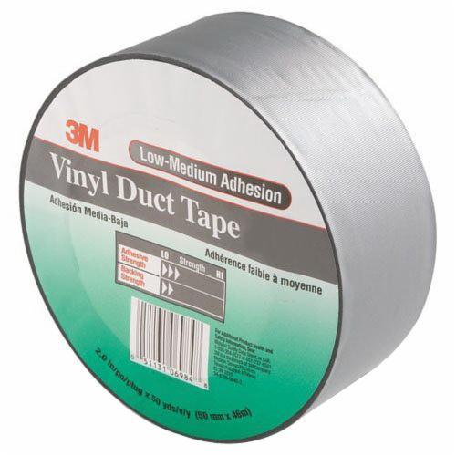 "3M™ 051131-06984 Gray 3903 Vinyl 6.5 Mil Duct Tape - 2"" x 50 Yard Roll"