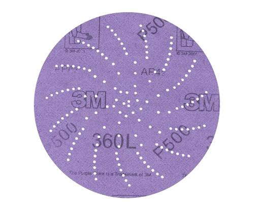 """3M™ 051141-20827 360L Purple 3"""" P600 Grit Sanding Disc"""