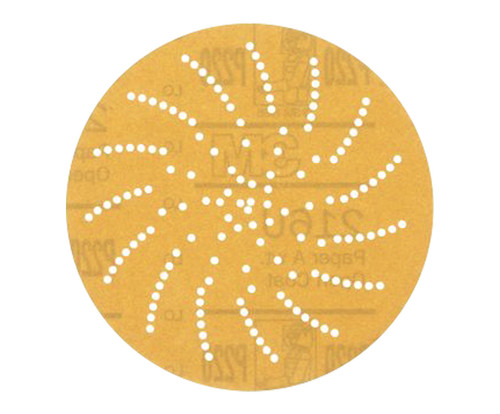 "3M™ 051141-20831 216U Yellow 3"" P320 Grit Sanding Disc"