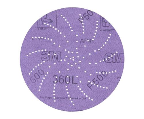 """3M™ 051141-20891 360L Purple 3"""" P600 Grit Sanding Disc"""